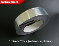 0.14mm Thick, (95mm*25M) One Side Heat Transfer Waterproof Aluminum Foil Glue Tape fit for Pipe Wrap, Kitchen