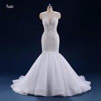 Lace Mermaid Wedding Dress 2018 Train Beading Appliques Royal Wedding Gown Bridal Dress vestidos de noiva princesa