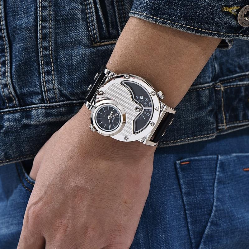 08 Montres Design Unique Multipe Fuseau  Bracelet En Cuir