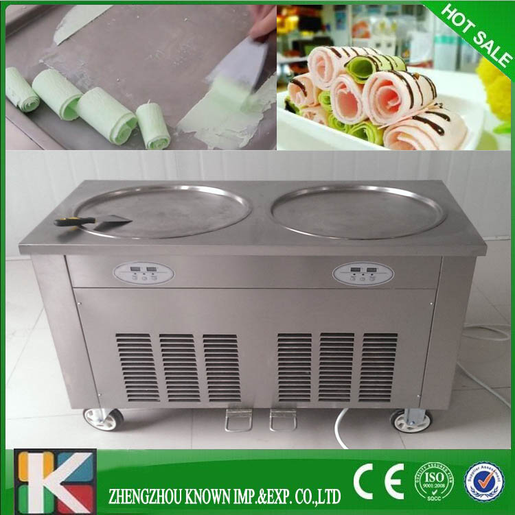 Marble cold stone fried ice cream machine double pan with japan marble cold stone fried ice cream machine double pan with japan compressor in ice cream makers from home appliances on aliexpress alibaba group ccuart Choice Image