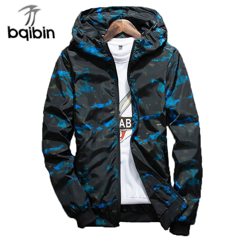 2019 Spring Autumn Mens Casual Camouflage Hoodie Jacket Men Waterproof Clothes M