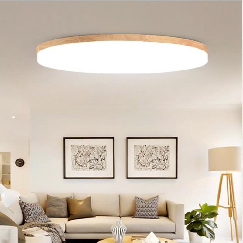 LuKLoy Moderne Holz Decke Montieren LED Licht Decke Lampe Mit Objektiv LED,  Größere Strahl Winkel, Super Dünne 5 Cm Für Wohnzimmer Schlafzimmer