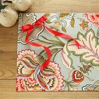 Big Flower Linen Cloth Napkins Europe Wedding Cloth Napkins Tea Towels Home Textile Decoration Kitchen Dinner