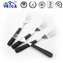 4pcs/lot Stainless Steel Non-slip handle Kitchenware Metal Silver Fork Steak Fork Fruit Salad Fork Dinnerware Kitchen Cutlery