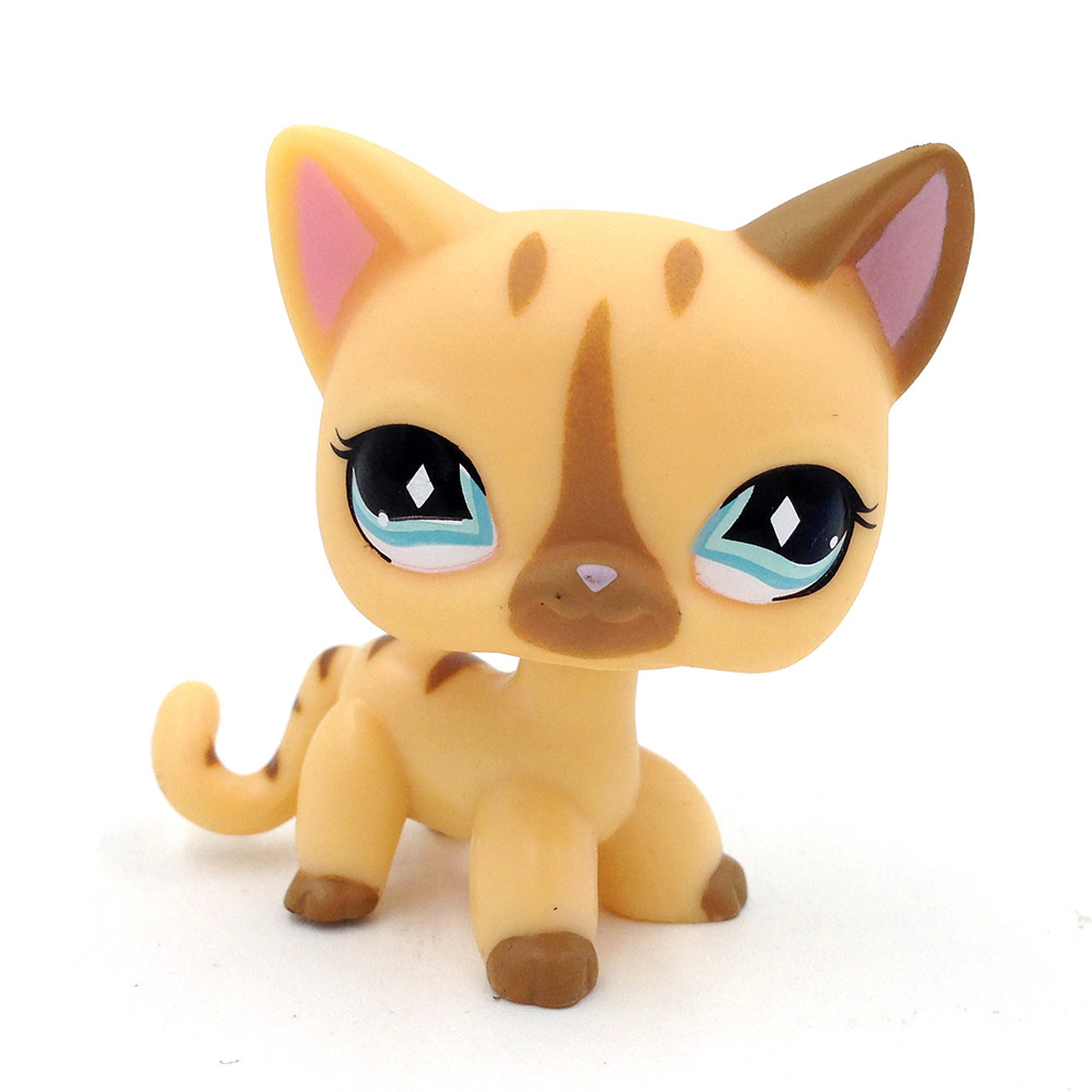 цены LPS# Toys Light Green Eyes Brown Ears Cat Kitty Cute Kids Gift