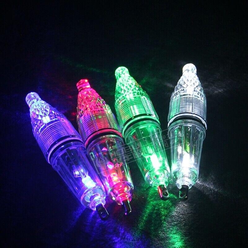 Яркий светодиодный сверкающие Рыбалка свет подводный привлечения рыбы открытый ночник синий красный, белый зеленый