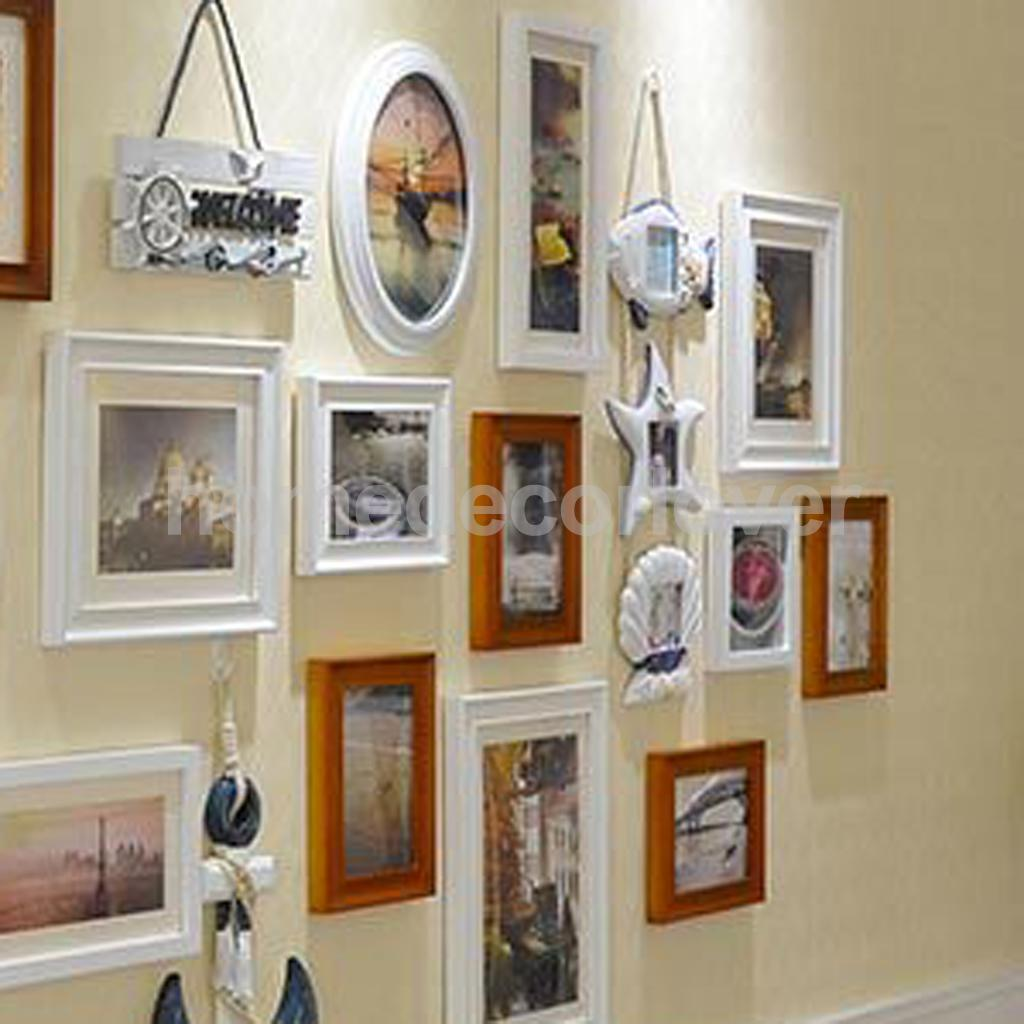 Shabby Photo Picture Wall Hanging Frame Display Seashell Fish Star