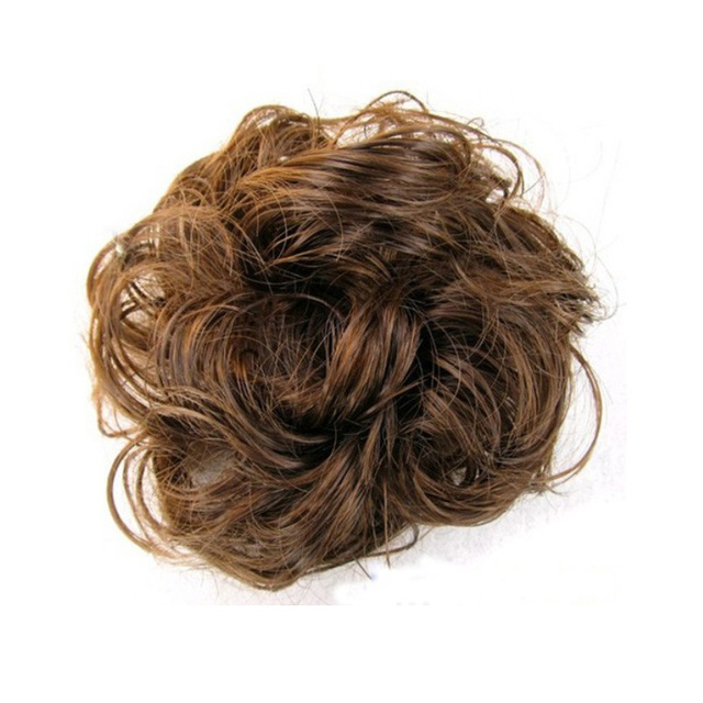 2018 Good Price Chic Tail Fake Hair Extension Bride Bun Scrunchie