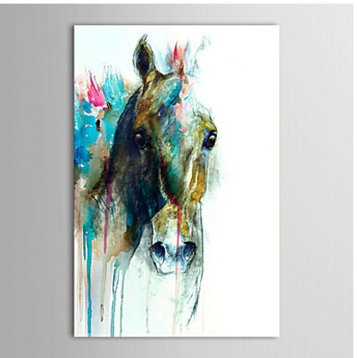 da83413bd46 Hand Painted Canvas Painting-Abstract Horse Head-Animal Oil Painting Wall  Art-Modern Canvas Art Wall Decor