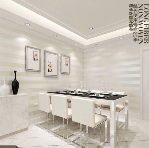 ФОТО Q QIHANG European Modern Minimalist Country Luxury Stripe Wallpaper Roll (10M*0.53M=5.3m2)