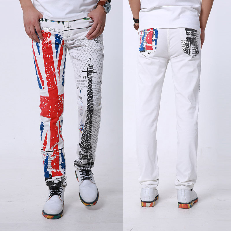 Aliexpress.com : Buy White Skinny Jeans Men Fashion 3D Print