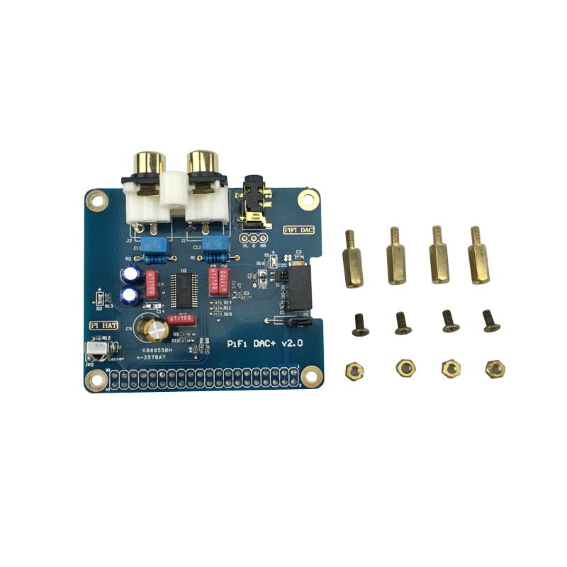 Prix pour Raspberry Pi 3 Analogique Audio Conseil HIFI DAC Carte Son Module Carte d'extension I2S Interface Compatible Avec Raspberry Pi 2/B +