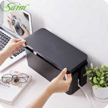 Saim Desktop Charger Cable Box Power strip Storage Box Cable Socket Boxes Case Plastic Wire Storage Management Organizer JJ238 orico cmb18 abs electrical socket storage box power cable manager case