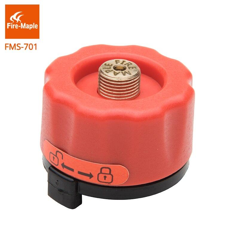 Fuego de arce Camping Gas adaptador al aire libre estufa cabeza FMS-701 de butano conector de la botella de Gas quemadores adaptador