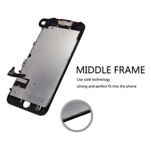 Image 3 - 10 pcs lot Completa Tela de Toque de Vidro Digitalizador & LCD Substituição Assembly Para o iphone 7 7g & Câmera Frontal frete grátis DHL