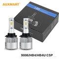 Auxmart S3 9006/HB4 72 Вт LED Фар Автомобиля Луковицы 6500 К 8000LM Одного луч Лампы Комплекты Для Переоборудования CSP Противотуманные Фары Все В Одном 12 В