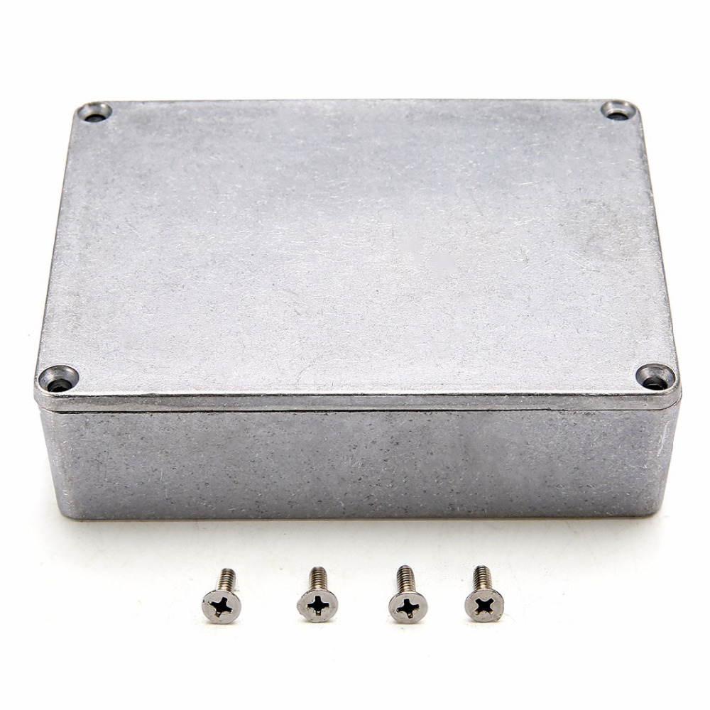 Silver Aluminium Enclosure Electronic Diecast Stompbox Project Box 1590BB 120x95x35mm with Corrosion Resistance цены онлайн