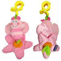 Pink Bee Rattle Car Hanging Bed Hanging 0 1 Year Old Baby Toys Early Development Educational