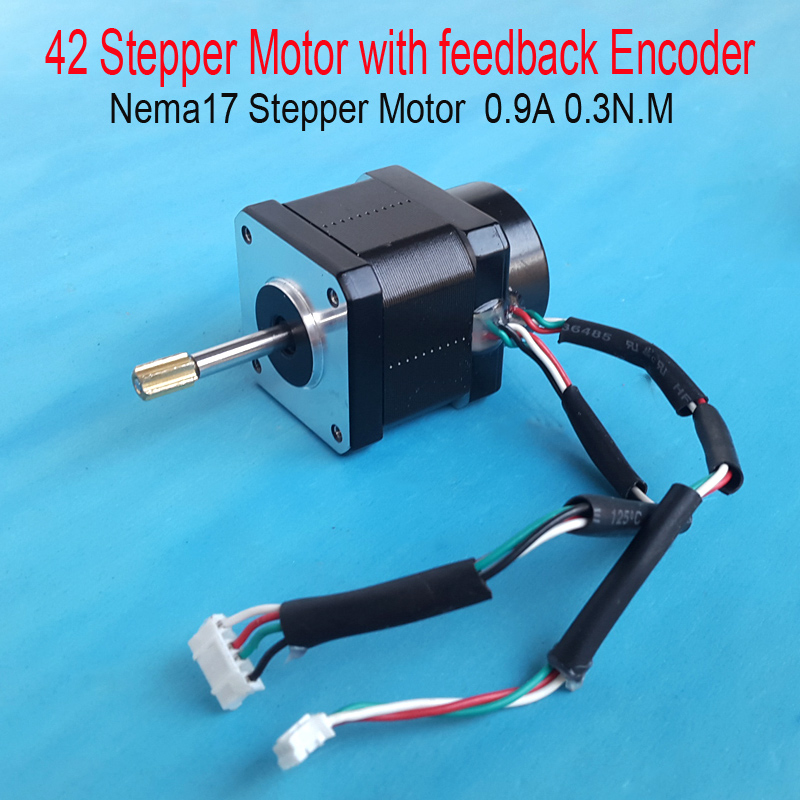 New 42 Stepper Motor With Encoder Feedback 0 9a 2 5 Kg Cm