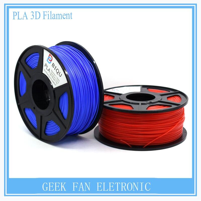 BIQU Optional 3D printer filament PLA 1.75mm/3.0mm  1kg rolls  of 24 colors for you choose  biqu new spool filament mount rack bracket for pla abs filament 3d printer