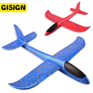 Foam Plane Throwing Glider Toy Airplane Inertial Foam EPP Flying Toy Plane Model Outdoor Fun Sports Planes toys for children(China)