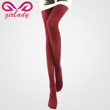 Girlady 50D Чулки для женщин ультра-тонкие колготки анти-крючок сексуальные обтягивающие женские Для тела дымоход, формирующие нейлон Чулки для женщин Для женщин