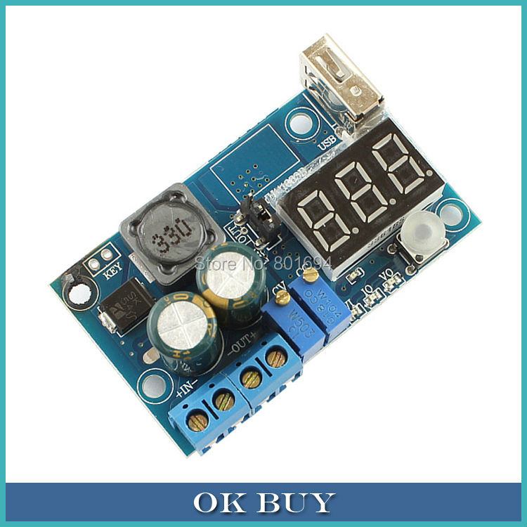 10 Pcs/Lot DC-DC Converter LED Drive Constant Current Constant Voltage Buck Module 4-40V to 1.2-38V Battery Charging USB Output