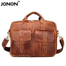 JONON Men Leather Bag Vintage Messenger Bag Brand Business Handbags Casual Travel Shoulder Bag Men Crossbody Bag Male Bolsa