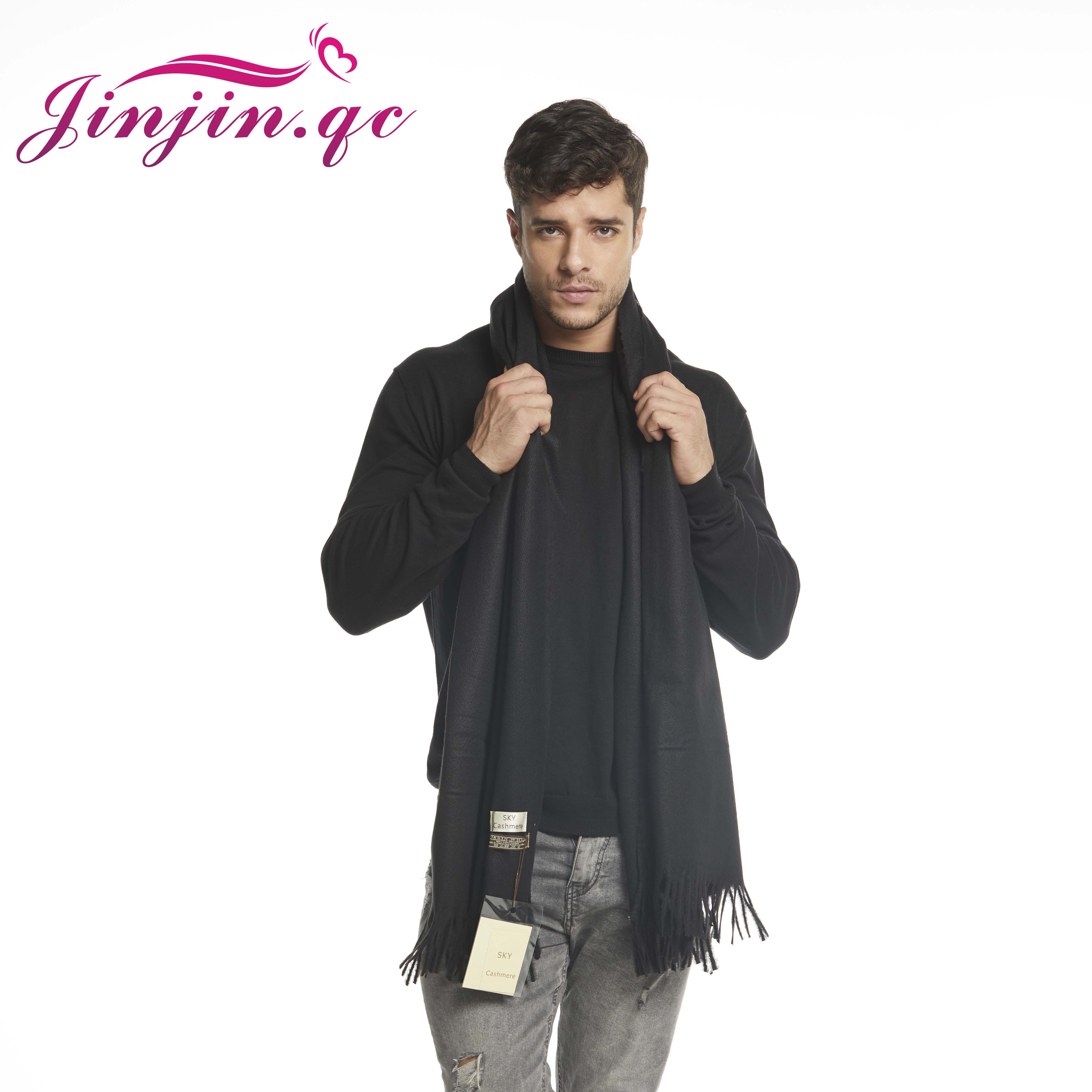 Jinjin.QC Winter Cashmere   Scarf   Luxury Brand Men   Scarves   and   Wraps   Blanket   Scarf   Solid Echarpe Foulard Femme Hijab Shawls