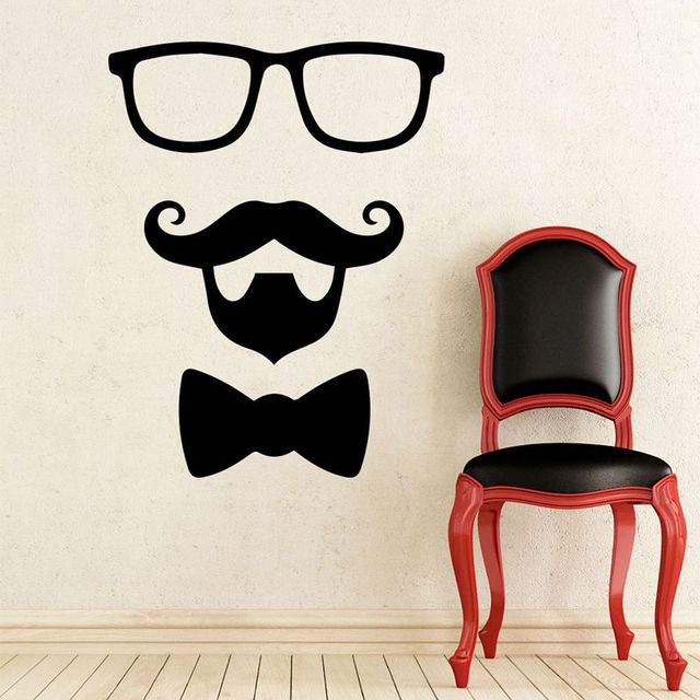 Man barber shop sticker name chop bread decal haircut shavers posters vinyl wall art decals decor