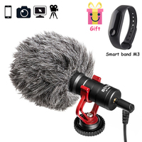 New BY MM1 Video Record Microphone Compact VS Rode VideoMicro On Camera Recording Mic for iPhone X 8 7 Huawei Nikon Canon DSLR