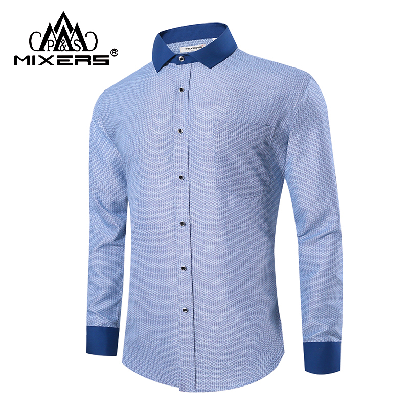 2018 New Arrival Adult Soft Shirt Men Long Sleeve Business Casual Print Men Shirts Fashion Big Size Comfortable Men Clothing