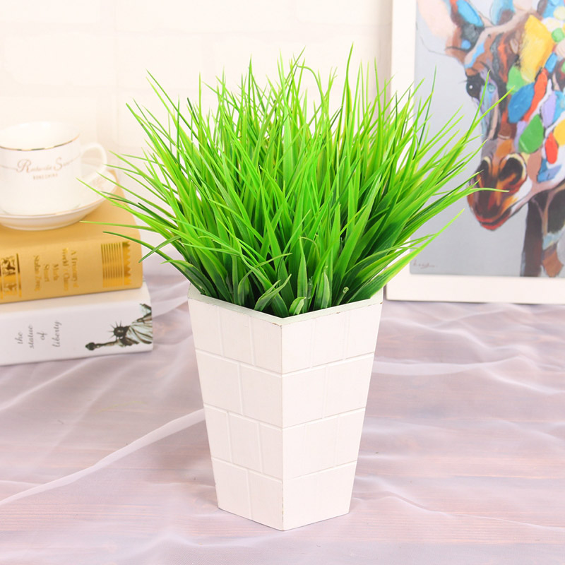 1 Pc Grass Green Plant Fake Flower Flower Arrangement Grass Artificial Plastic Christmas Wedding Home Decor Artificial Flower