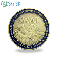 Wholesale Good quality army coins for gift antique Saint George patron saint of armor coins US SWAT challenge coins souvenir