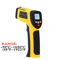 Digital Infrared Thermometer Double Laser High Precision IR Temperature Gauge Tester Pyrometer 50 1050C 58 1922Fahrenheit