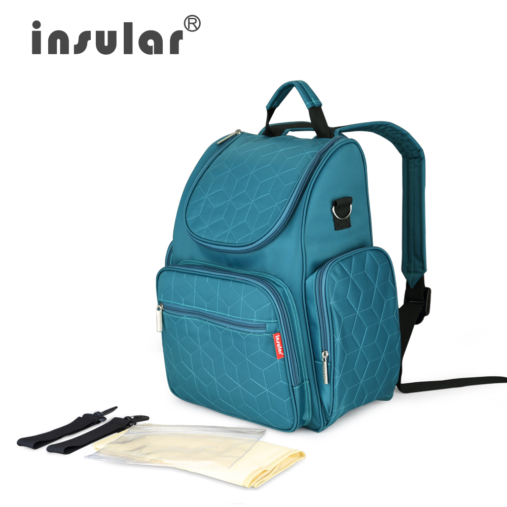 Insular New Style Baby Diaper Backpacks Bags Nappy Stroller Bag Multifunctional Maternity Changing Bags for Mommy Women Backpack
