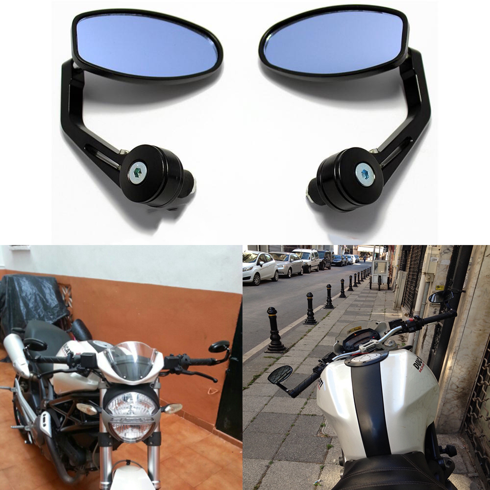 "موتور سیکلت UNIVERSAL 7/8 ""BAR End MIRRORS Side Rearview آینه برای z800 z750 tmax 530 ktm دوک 125 Ktm دوک 390"