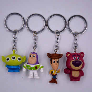 48picee/lot 4-5cm Toy Story 4  Action Figure Toy Story Buzz Lightyear Woody Bear Alien Toy Story Figure Keychain toys