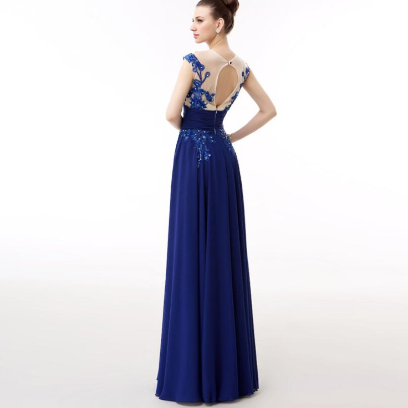 NICEOOXIAO Sexy Royal Blue Long Evening Dress Tank Sleeveless Lace  Party Dresses Bride Toast Clothing Vestido De Festa