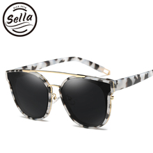 Sella 2017 New Fashion Women Polarized Sunglasses Brand Designed Colorful Mirror Lens Double Bridge Men Summer Driving Glasses