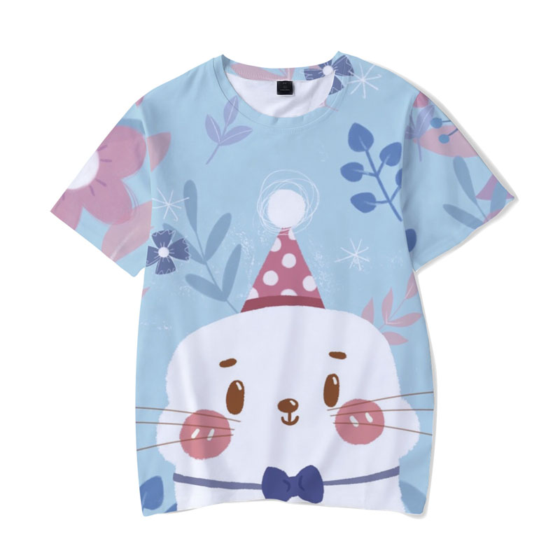 2018 harajuku Kawaii Animals 3D Print Women/Men funny T shirts short sleeve Anime t-shirts Summer Cotoon mens clothing 1