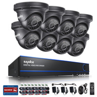 SANNCE 8CH 1080P HD H 264 DVR 8 Outdoor IR Surveillance Security Camera System