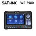 [Genuine] WS-6980 Satlink 7 polegadas Tela LCD HD DVB-S2 & DVB-T/T2 & DVB-C 6980 Combinação Localizador com constelação Analisador de Espectro localizador