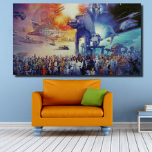 StarWars in the Space Canvas Oil Painting Wall