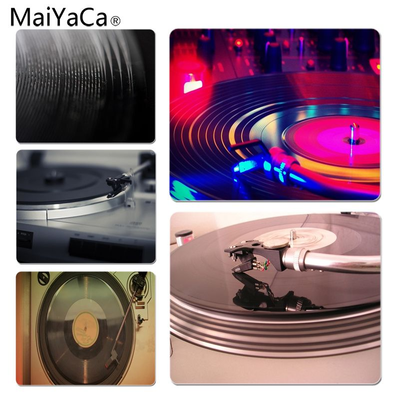 MaiYaCa Record Player Customized laptop Gaming mouse pad Size for 25X29cm Gaming Mousepads ...