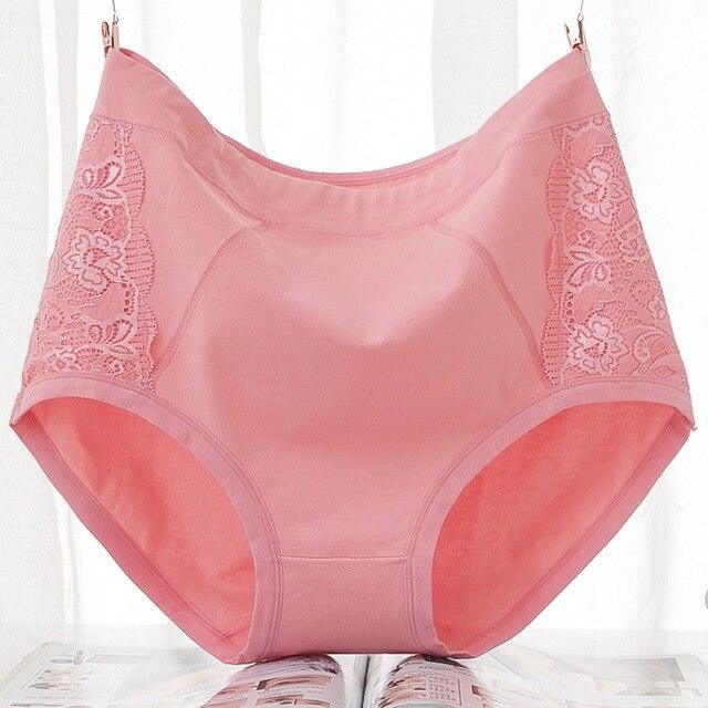 gamme exclusive haut de gamme véritable magasins d'usine VU021 grande taille 6XL coton slips sous-vêtements femmes rose noir  dentelle Culotte taille haute Calcinha Culotte femme