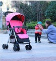 Bebé puede sentarse reclinado coche cochecito ligero cochecito del paraguas amortiguadores coche cochecito ligero portátil