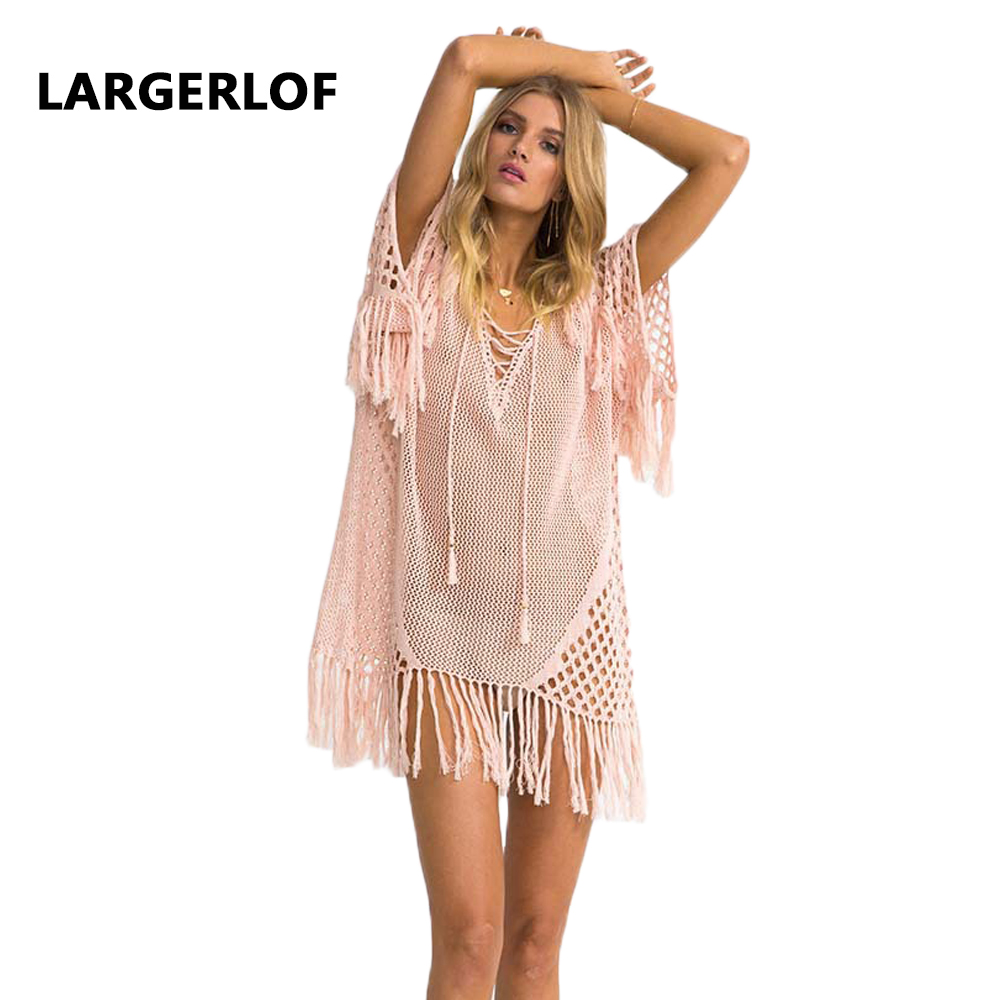 Crochet Cover Up Robe De Plage Beach Coverups For Women Beach Dress Woman 2018 beach outgoings Swimwear Cover Up BK27102