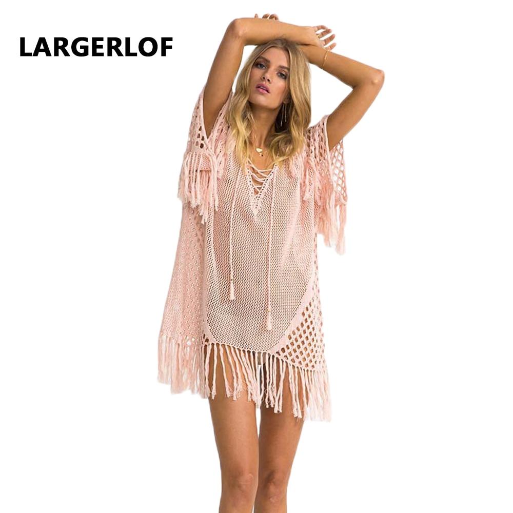 Crochet Cover Up Robe De Plage Plage Coverups Pour Femmes Plage Robe Femme 2018 plage dépenses Maillots De Bain Cover Up BK27102