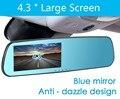 "Low price 4.3""  larger screen Blue mirror L8000 auto dvrs cars dvr parking recorder video registrator camcorder night vision"